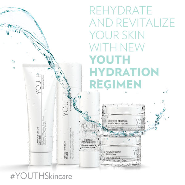 Hydration Regimen Product Image with Tagline